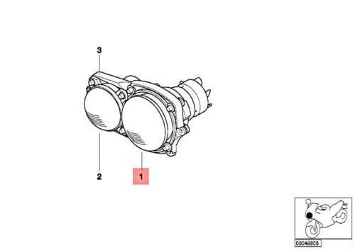 Genuine BMW R28 0318 Headlight low beam SAE 63127671032