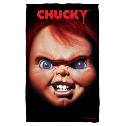 Child/'s Play Movie Poster Big Chucky Visage Léger Serviette de plage