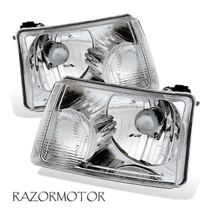 2001-2011 Replacement Headlights Lamp Pair For Ford Ranger Pickup Truck w/ Bulb