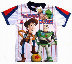 TEE-SHIRT-TOY-STORY-BUZZ-WOODY-9-10-ans-XL-DISNEY-QUALITE-imprime-2-faces