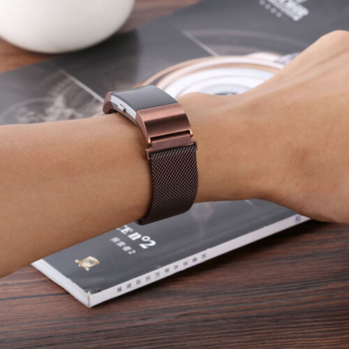 For FitBit Charge 2 Wristband Metal Stainless Milanese Magnetic Loop Band Strap