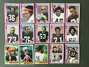 Lot 15 cartes NFL Cincinnati Bengals 1979 1980 TOPPS Football Américain