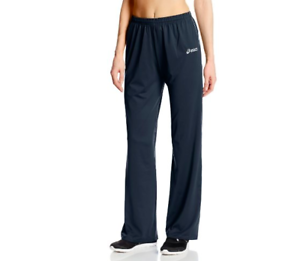 fd9bfc7e2e4eb NWT Asics Alana Track Pants Womens XS Small Navy Blue White Warm Up ...
