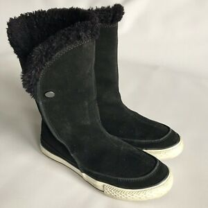 Details about Converse Real Leather Suede Boots, Size 4, Shearling Lined, BNWT, 100% Genuine
