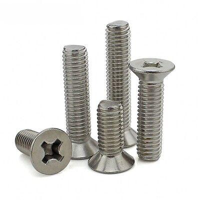 M4*4mm-100mm 304 A2-70 Stainless Flat Head Phillips Machine Screws GB/T819