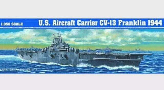 Trumpeter 05604 1 350 Scale  U.S. Aircraft Carrier CV-13 Franklin 1944 New