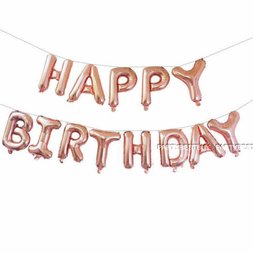 Happy Birthday Self Inflating Balloon Balloons Party Banner Bunning Foil  UK