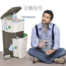 Pattumiera Bama Trypla per la raccolta differenziata bidone 3 scomparti rifiuti