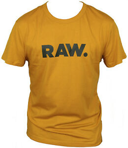 New-G-Star-Raw-Mens-T-Shirt-Round-Neck-in-Dark-Gold-Colour-Size-XL