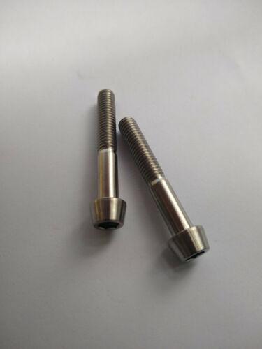 Titanium Bolts Gr5 M6 X 45mm Taper Head Grade 5