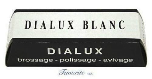 One Bar of White Dialux Jewelers Polishing Compound Rouge Blanc Paste by DIALUX