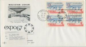 CANADA-1967-EXPO67-Block4-FDC-JD2221
