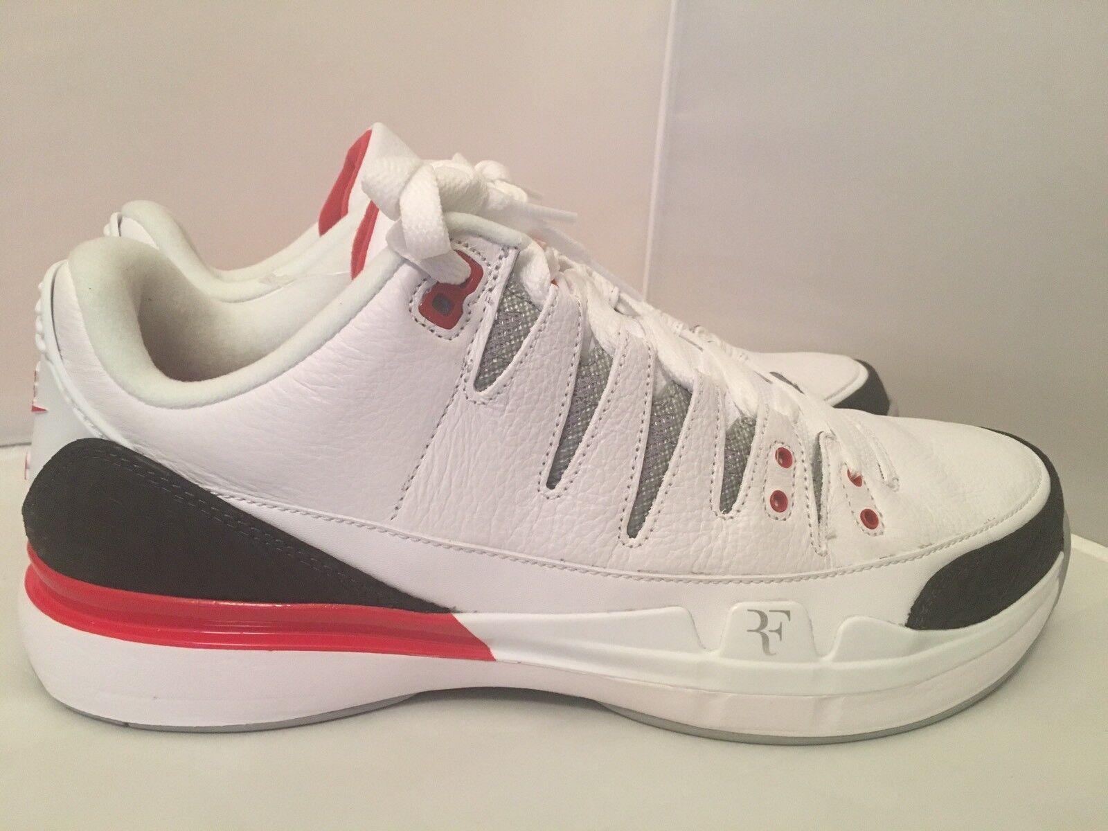 3481b739671a4f ... Nike Nike Nike Zoom Vapor x AJ3 Roger Federer RF Fire Red 709998 106  c44593 ...