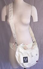 Authentic Belstaff Banana Bag Brand New Cross Body Belflex Ivory Purse NWT