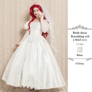 Details About Authentic Secret Honey Bride Dress Ariel Wedding Little Mermaid Disney