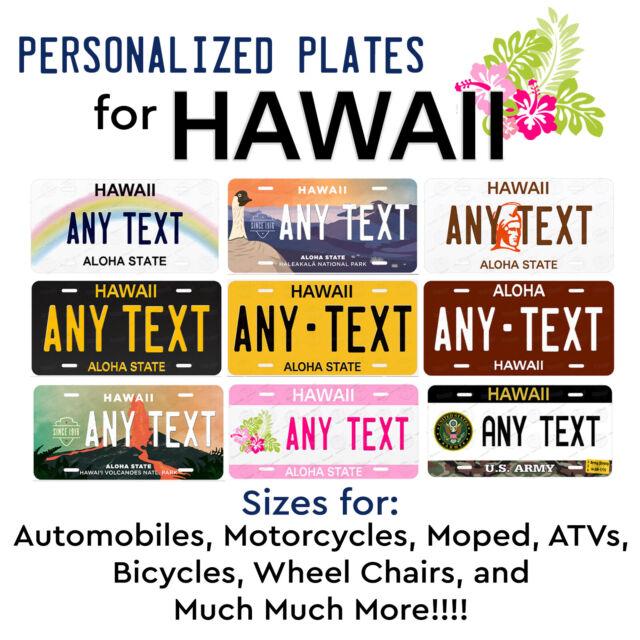 License Plate Hawaii Wave 2 Volcanoes National Park Customizable 6 x 12 Aluminum Vanity License Plate