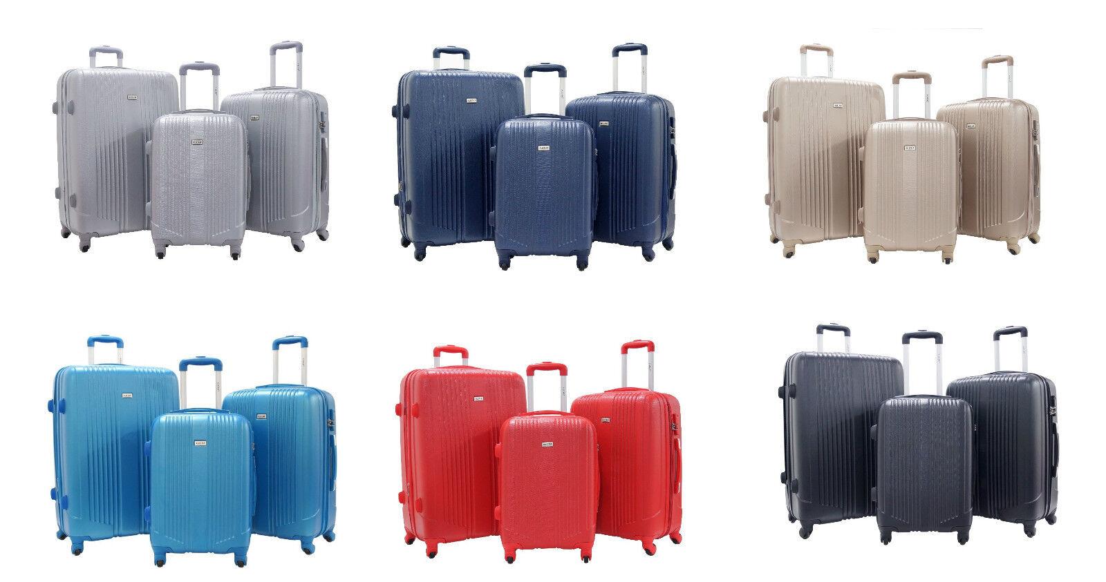 Set de 3 valises 556575 cm  ALISTAIR Airo  ABS Ultra Léger  4 Roues