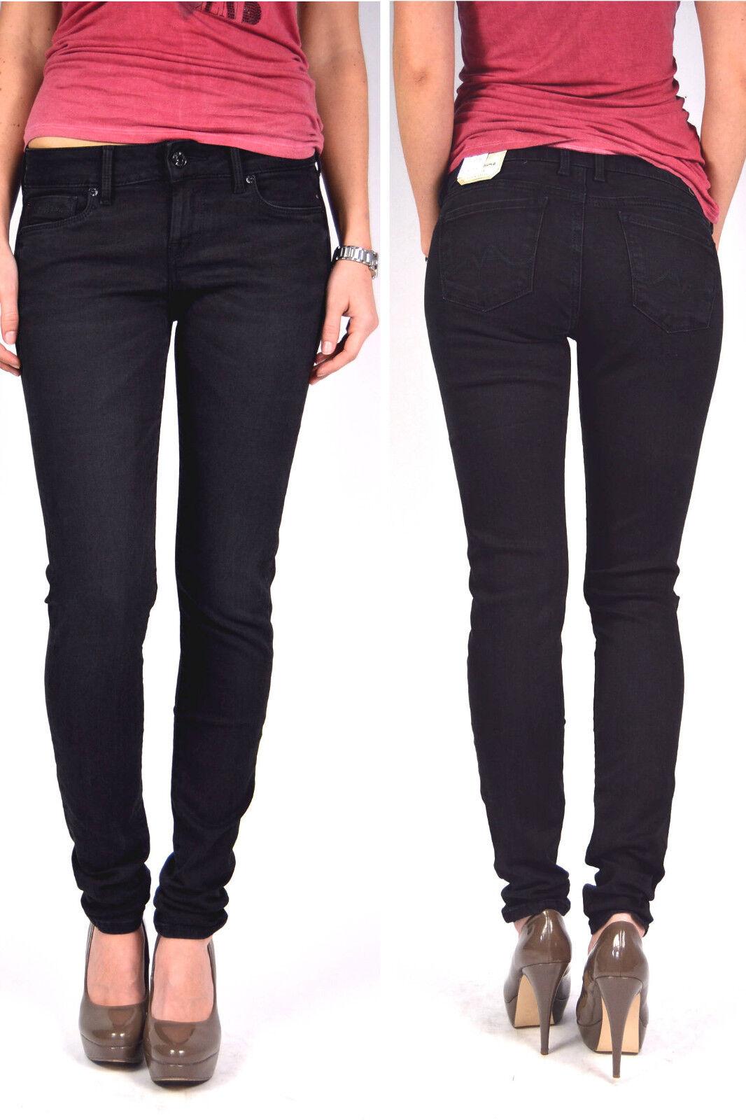 PEPE Jeans Soho s98 NERO REGULAR WAIST WAIST WAIST Skinny Fit Tg. 25 32 - 26 32 - 27 32 a074cf