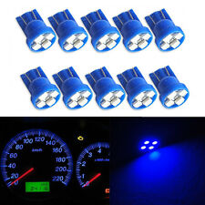 10PCS T10 4-SMD LED Wedge Dashboard Light W5W 194 2825 Gauge Cluster Bulbs Blue