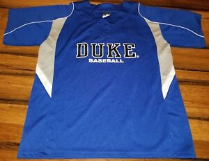 premium selection 7b1fd c842f Details about DUKE BLUE DEVILS BASEBALL JERSEY SIZE med ADULT