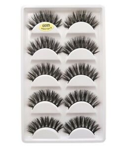 5-Pairs-3D-Mink-Eyelashes-Thick-Handmade-Natural-False-Lashes-Wispy-New-Styles