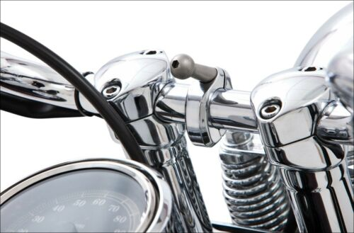 """Ciro Chrome Mount for 7//8/""""-1/"""" Bars Mount Only for Holders /& Device Holders"""