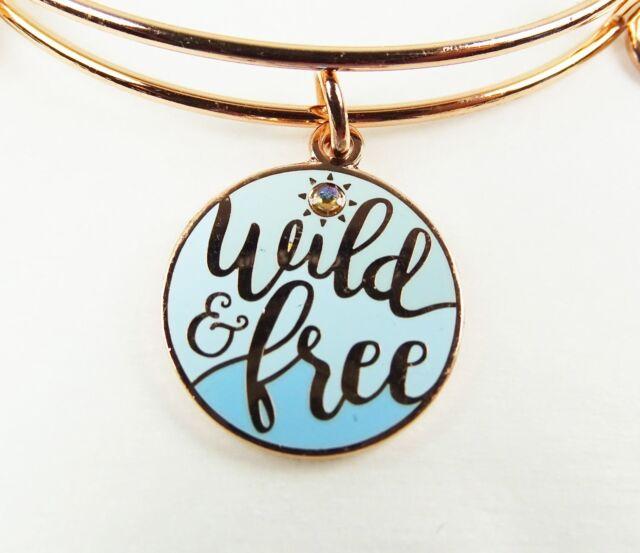 ALEX and ANI Rafaelian Rose Gold Tone Wild and Free Wrap Bracelet with Charms