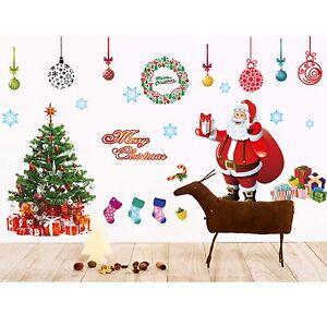 Christmas removable wall decal home decor kids room for Christmas wall mural