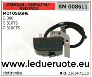 Z263471110 BOBINA ELETTRONICA MOTOSEGA ZENOAH KOMATSU rojo MAX G 300 310TS 3100TS
