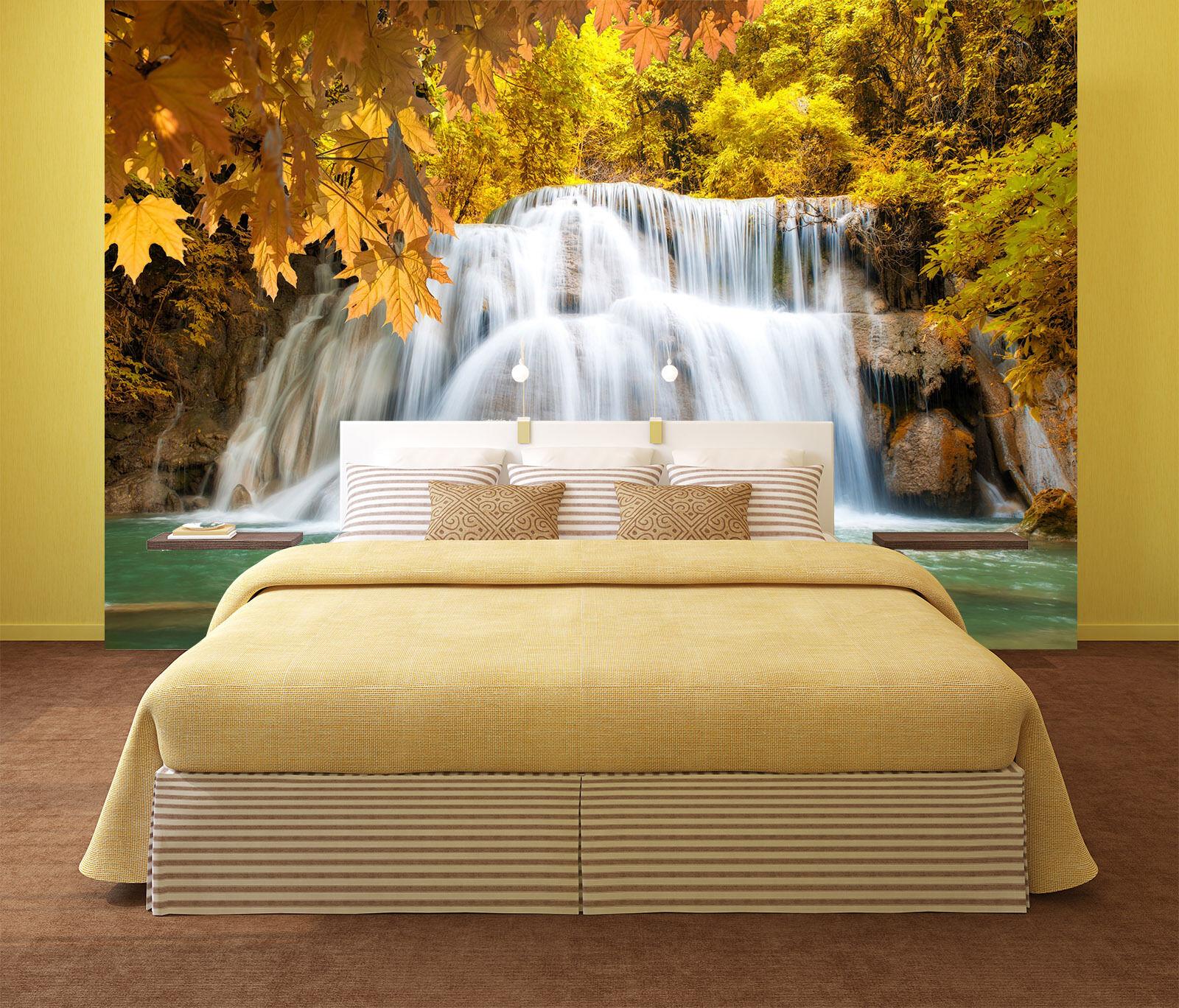 3D Waterfall leaf 2312 Wall Paper Wall Print Decal Decal Decal Wall Deco Indoor Wall Murals c58a90