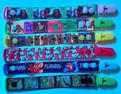 Toy Saver FREE POST Ribbon 1 x DUMMY CLIP Hand Made Pacifiers