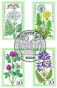 Rfa 1977: Prairies Fleurs! Providence Nr 949 - 952 Avec Bonner Cachet Spécial! 1a! 153-afficher Le Titre D'origine Lustre Brillant