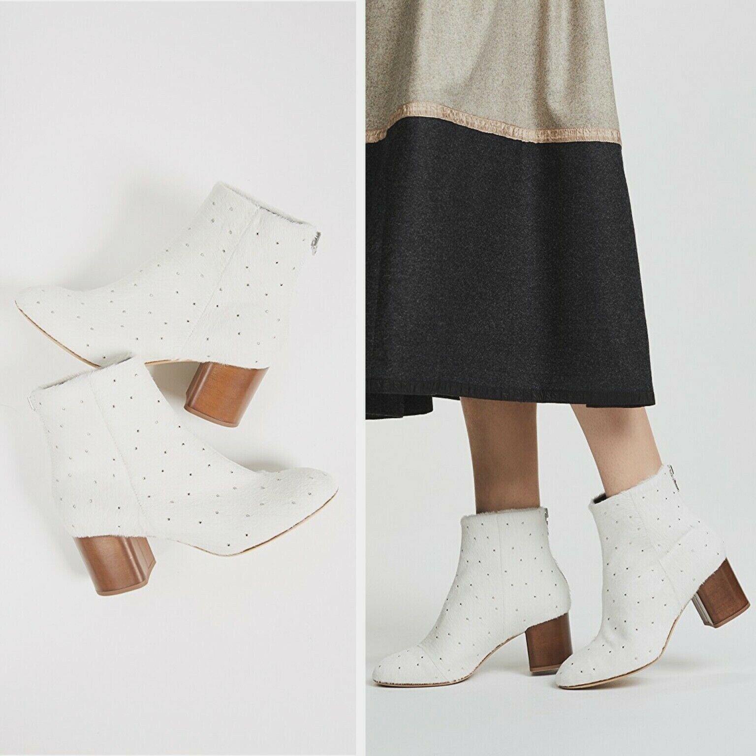Neu Rag & Bone Damen Drea... Weiß Wade Haar Stiefel Größe  US 9.5 Eu 39.5  1