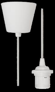 Lampenaufhängung McShine weiß E27 Fassung Textilkabel 230V 1,2m Kabel
