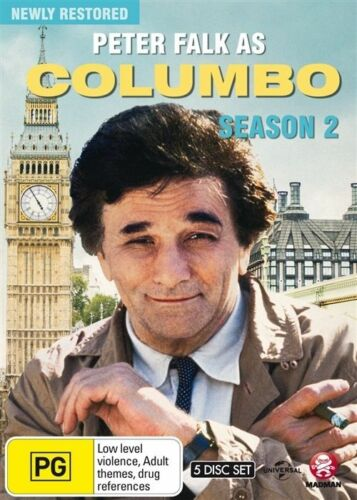 1 of 1 - Columbo : Season 2 (DVD, 2015, 5-Disc Set) LIKE NEW REGION 4