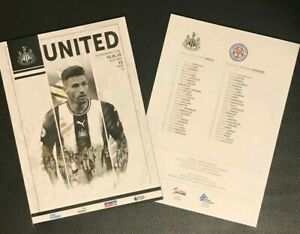 Newcastle-United-v-Leicester-City-Matchday-Programme-1-1-2020-FREE-UK-DELIVERY