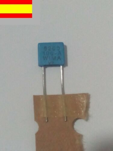 Wima 5/% 6,2nf pitch 5mm FKP2 100v condensador,condensateur