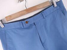 F575 Oscar Jacobson Pantaloncini Pantaloni Originali Premium Pantaloni Chino allungato Blu Taglia M
