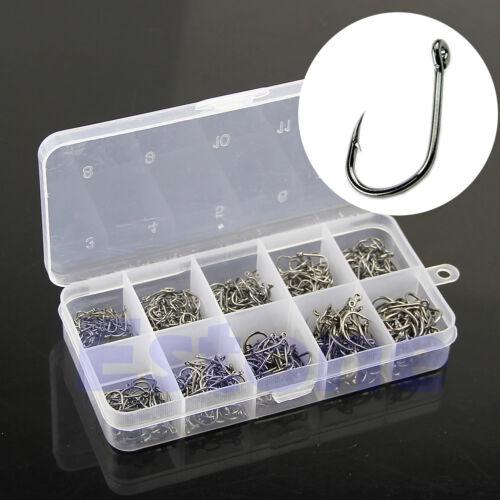 500Pcs 10 Sizes Fish Fishing Sharpened Hooks With Box Top Quality