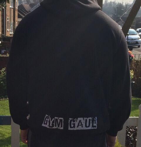 """XL 47/"""" Chest Down From £19.99 Bodybuilding Gym Gaul /'Coz Size Matters/' Hoody"""
