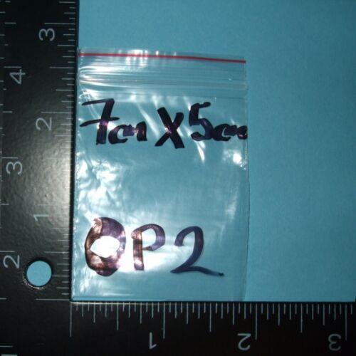 Diverses Tailles Grip seal sacs GL1 zip style en polyéthylène clair plastique poly