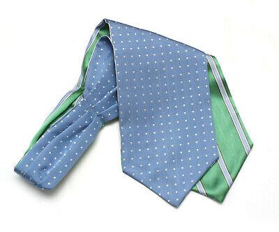 Mens Ascot Silk Cravat Woven Silk Day Cravat Reversible Ascot Tie A073