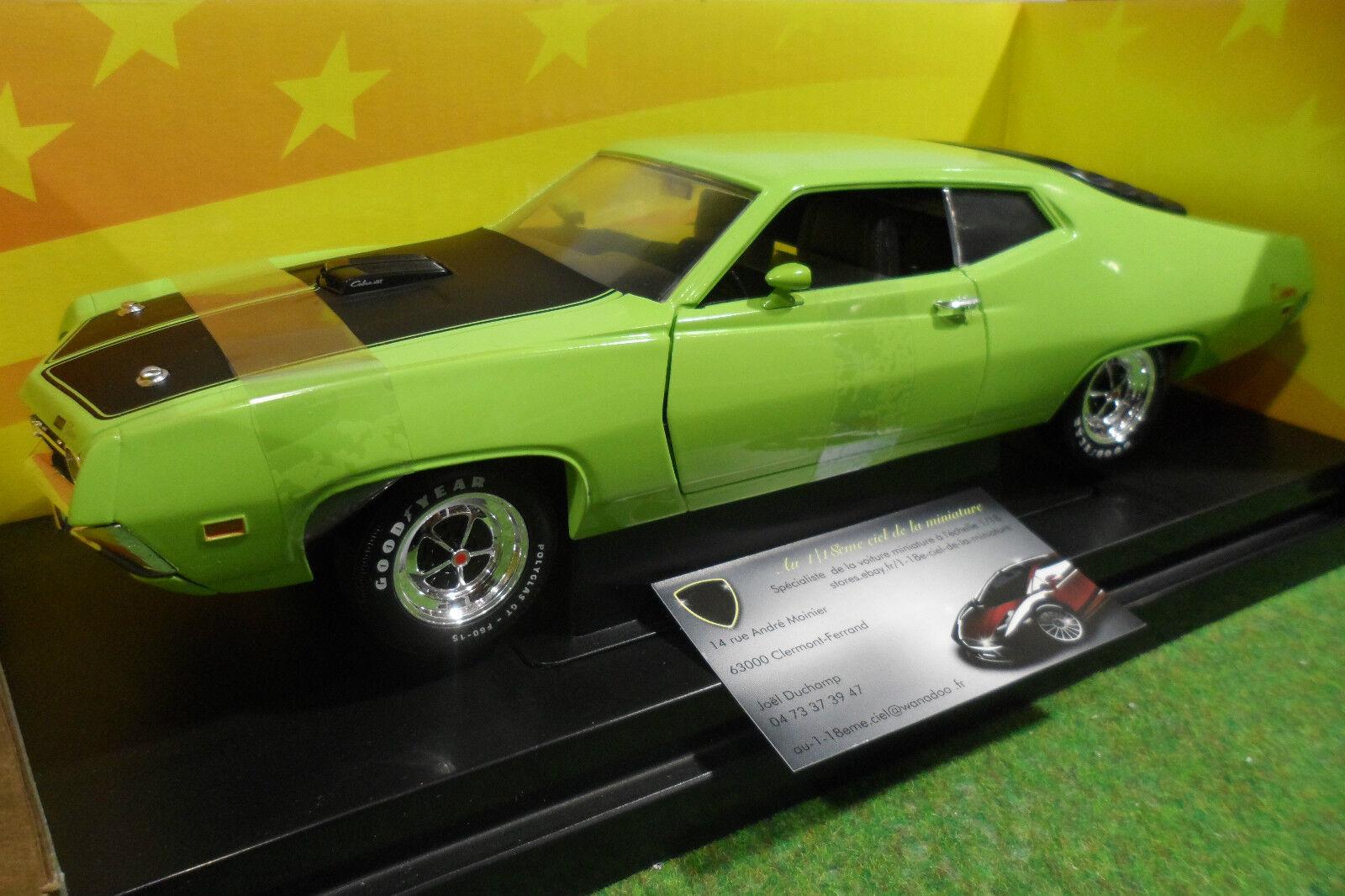 FORD TORINO Cobra 1971 green au 1 18 AMERICAN MUSCLE ERTL 36383 voiture miniature