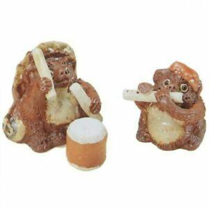 Omatsuri-Tanuki-Shigaraki-yaki-Chinese-Racoon-Dog-Playing-Dram-Flute-Figure-Set