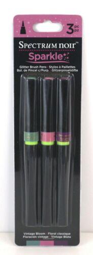 Spectrum Noir Sparkle Glitter Pinceau stylos 3pc Couleurs Diverses