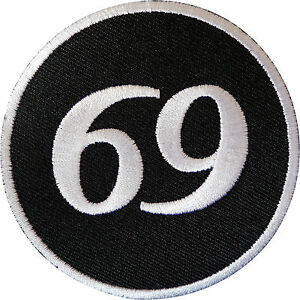 69-Patch-Iron-Sew-On-Cloth-Jacket-Biker-Motorcycle-Motorbike-Sex-Position-Badge