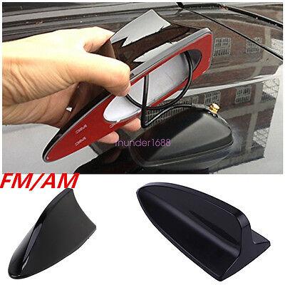 Black Universal SUV Car Roof Radio AM// FM Signal Shark Style Aerial Fin Antenna