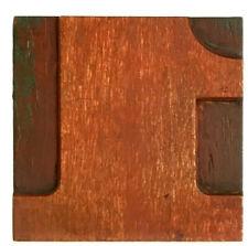 One Number 1 Wood Letterpress Print Type Printers Block Cut 25 2 12