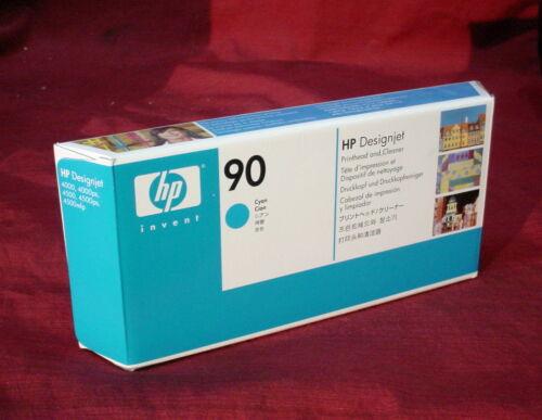 Genuine HP 90 Cyan C5055A Printhead//Cleaner Designjet 4000 4500 4500mfp 2014