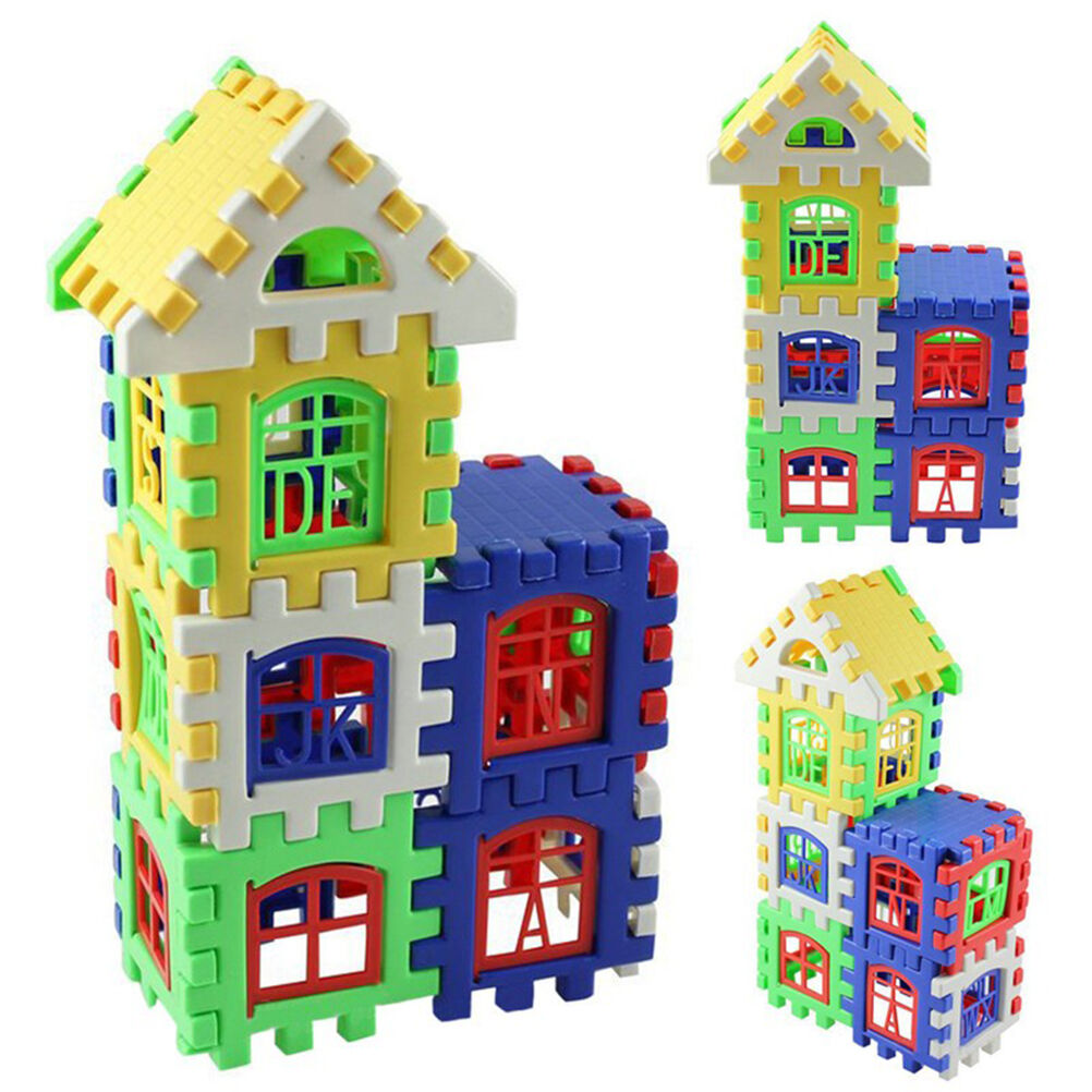 1Set Baby Kids House Building Block Educational Developmental Toy Brain Game QP 3